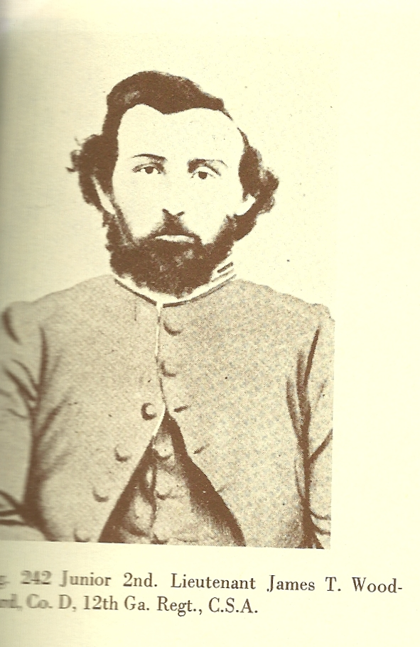 Lt. James Thomas Woodward, Company D 12th GA 'Calhoun Rifles'