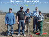 Cleanup of Cliett Cemetery - click for larger version
