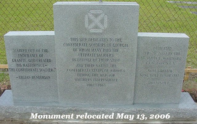 Camp 1399 Confederate Monument at Cliett Cemetery as of May 13, 2006