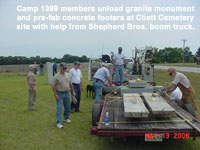 Monument Unloaded at Cliett Cemetery - click for larger version