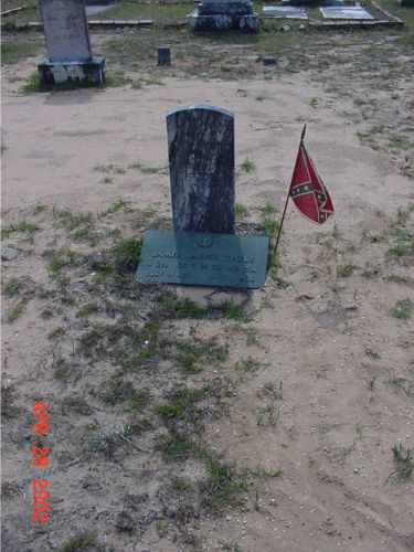 Grave of James J Theus at Bethel Primitive Baptist Church Cemetery, Taylor Co. GA